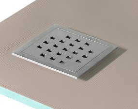 Wet room kits with square drain