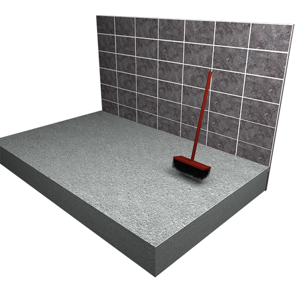 how to build a wet room on concrete floor