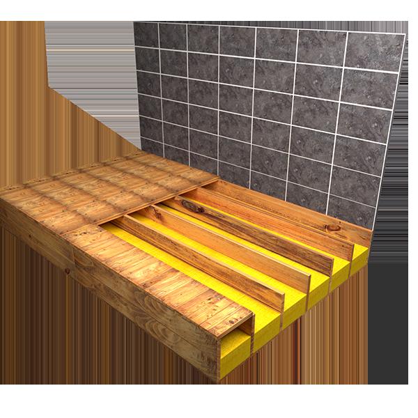 Wet room Kit shower tray installation instructions | Timber floor