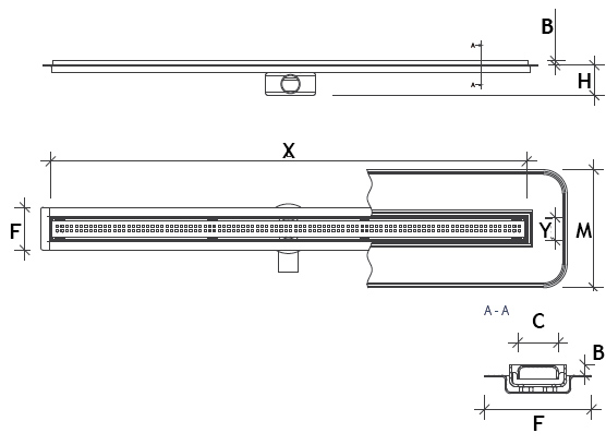 Premium Slim technical drawing